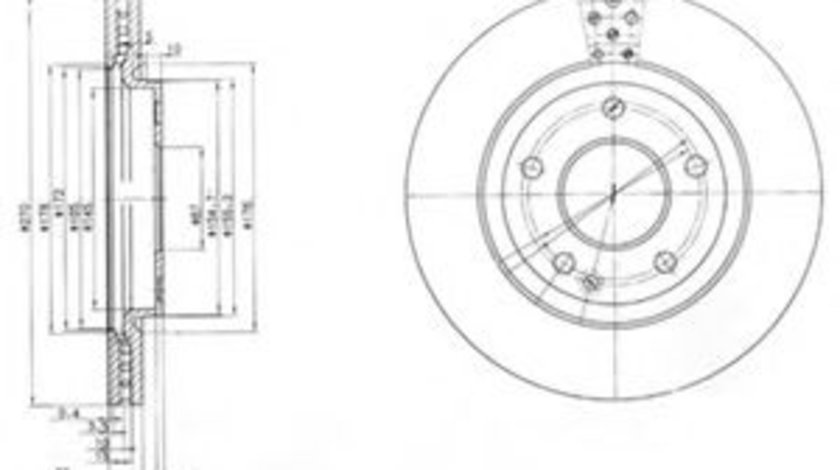 Disc frana MERCEDES VANEO (414) (2002 - 2005) DELPHI BG3709 piesa NOUA