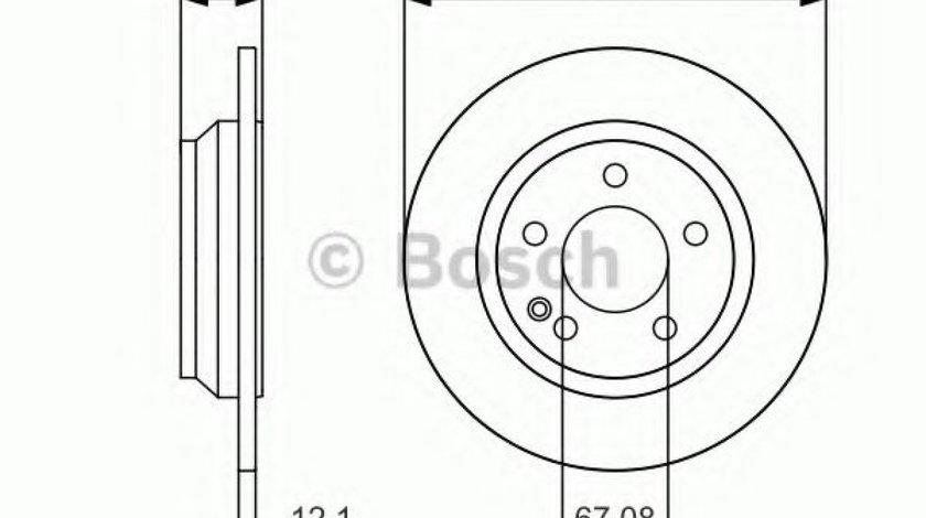 Disc frana MERCEDES VITO caroserie (W447) (2014 - 2016) BOSCH 0 986 479 D12 produs NOU