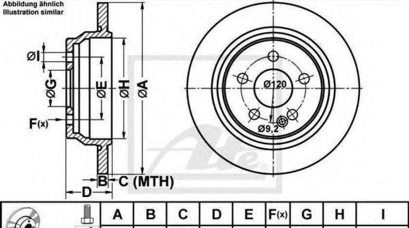 Disc frana MERCEDES VITO / MIXTO caroserie (W639) (2003 - 2016) ATE 24.0110-0280.1 produs NOU