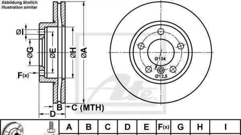 Disc frana MINI MINI COUNTRYMAN (R60) ATE 24.0122-0271.1