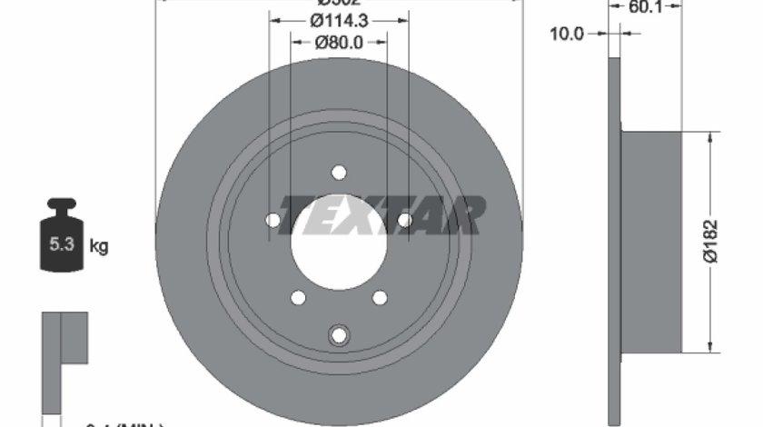 Disc frana MITSUBISHI ASX GAW Producator TEXTAR 92255103