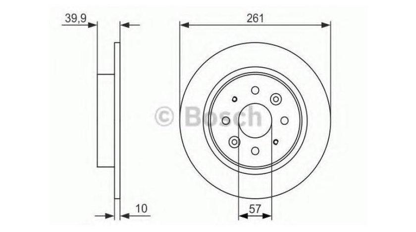Disc frana Opel Vectra B (1995-2002)[J96] 0986479597