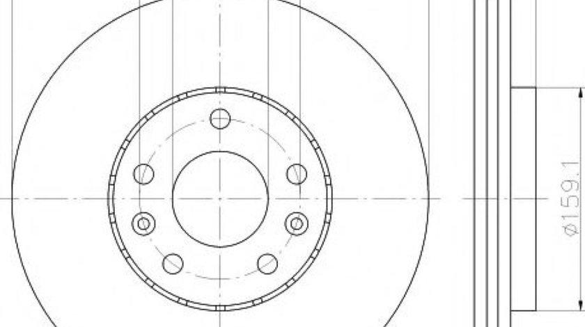Disc frana RENAULT MEGANE III Grandtour (KZ0/1) (2008 - 2016) TEXTAR 92195603 - produs NOU