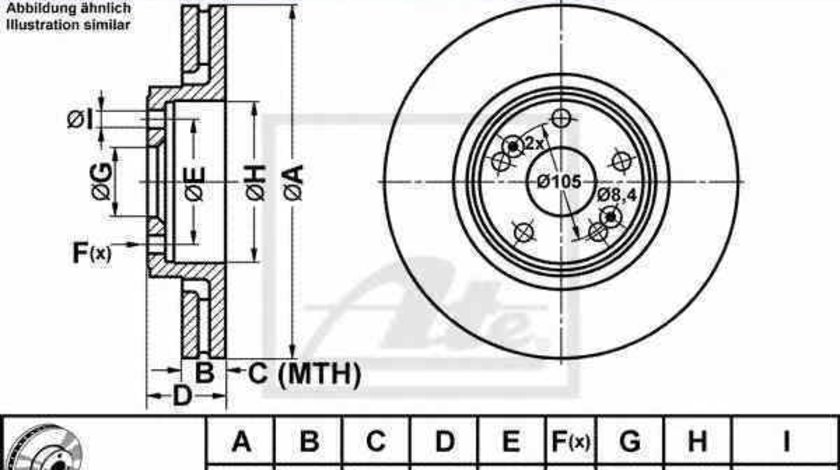 Disc frana RENAULT SCÉNIC I JA0/1 ATE 24.0126-0142.1