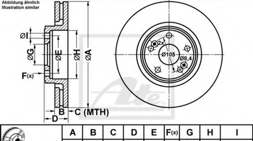 Disc frana RENAULT SCENIC I (JA0/1) (1999 - 2003) ATE 24.0126-0142.1 piesa NOUA