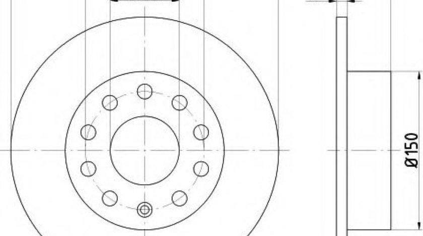 Disc frana SEAT ALTEA (5P1) (2004 - 2016) TEXTAR 92120903 piesa NOUA