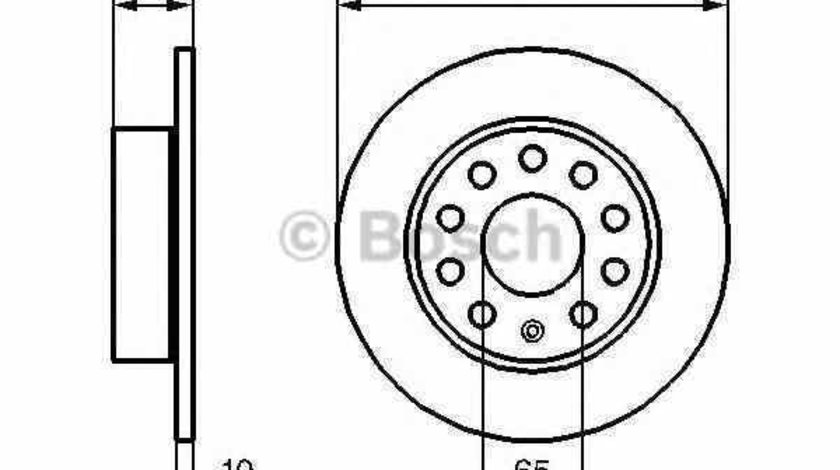 Disc frana SEAT ALTEA XL 5P5 5P8 BOSCH 0 986 479 099