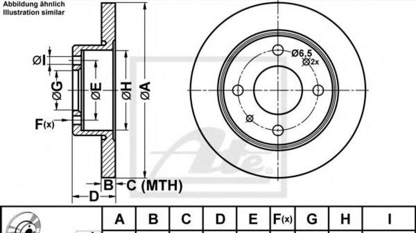 Disc frana SMART FORFOUR (454) (2004 - 2006) ATE 24.0110-0304.1 piesa NOUA