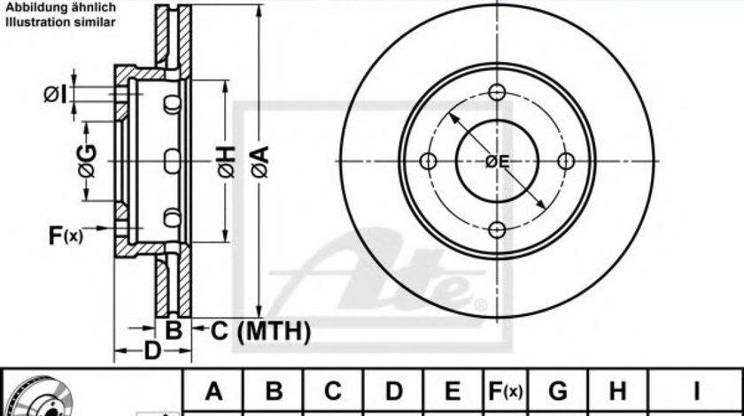 Disc frana SMART FORFOUR (454) (2004 - 2006) ATE 24.0124-0192.1 piesa NOUA