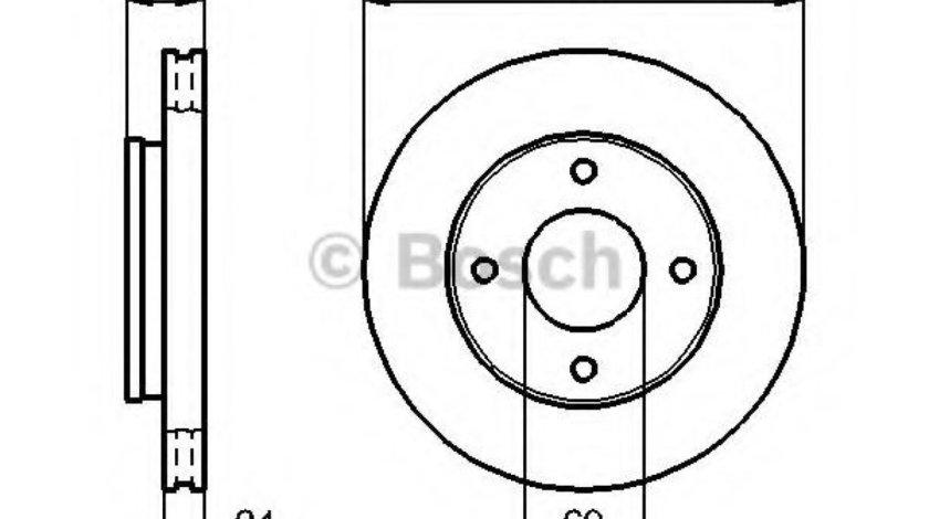 Disc frana SMART FORFOUR (454) (2004 - 2006) BOSCH 0 986 479 B83 piesa NOUA