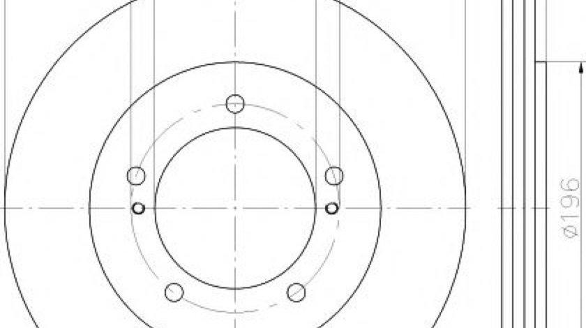 Disc frana SUZUKI GRAND VITARA I (FT) (1998 - 2005) TEXTAR 92170503 - produs NOU