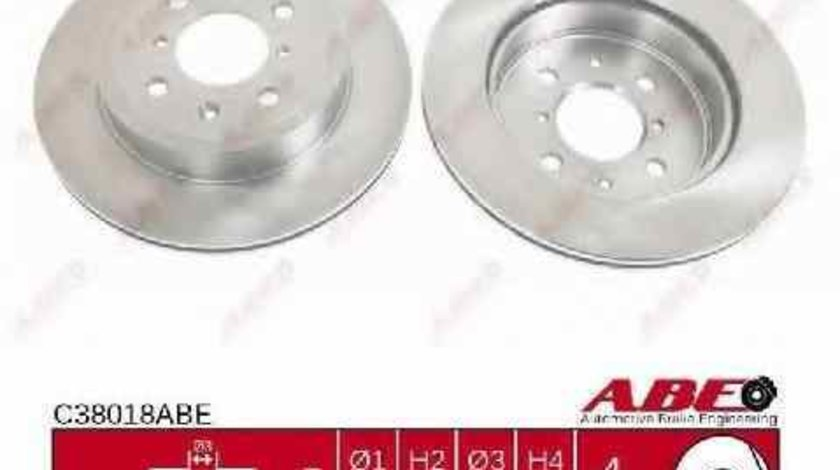 Disc frana VAUXHALL AGILA Mk I A ABE C38018ABE