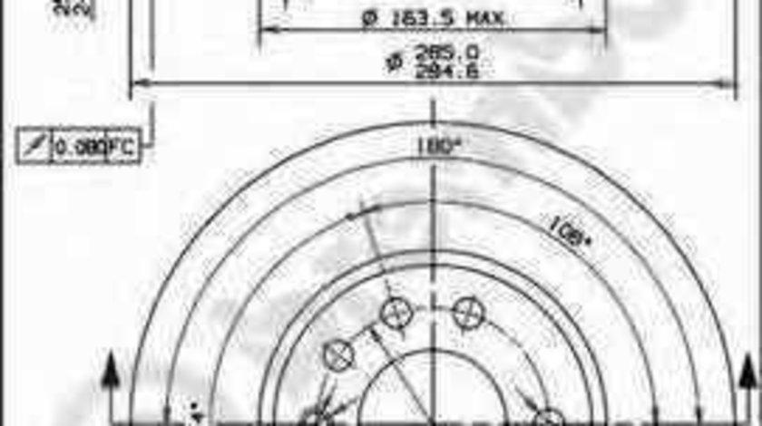 Disc frana VAUXHALL VECTRA Mk II C GTS BREMBO 09.9165.10