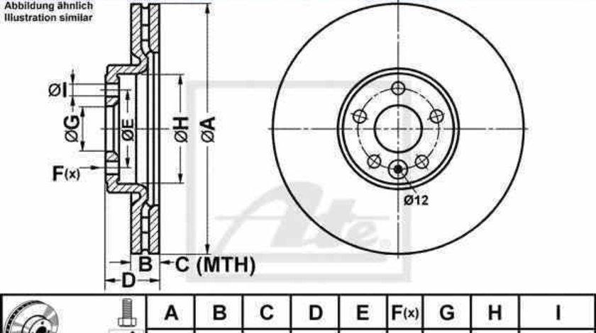 Disc frana VOLVO V70 III BW ATE 24.0128-0210.1