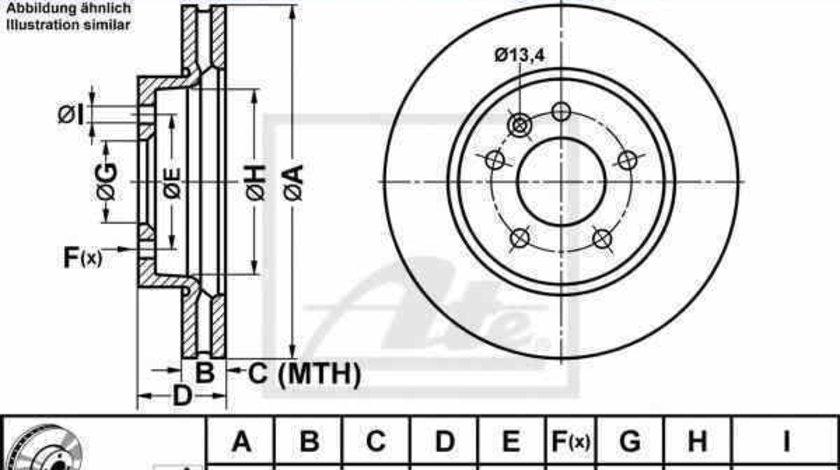 Disc frana VW AMAROK 2H S1B ATE 24.0128-0251.1
