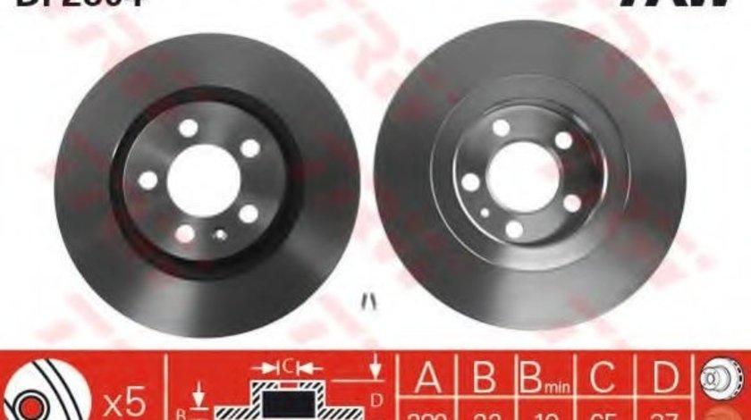 Disc frana VW BORA Combi (1J6) (1999 - 2005) TRW DF2804 produs NOU