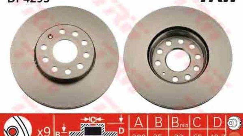 Disc frana VW GOLF VII (5G1, BE1) TRW DF4295