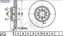 Disc frana VW GOLF VII combi (BA5) (2013 - 2016) A...
