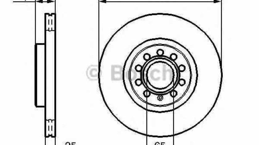 Disc frana VW PASSAT CC 357 BOSCH 0 986 479 058
