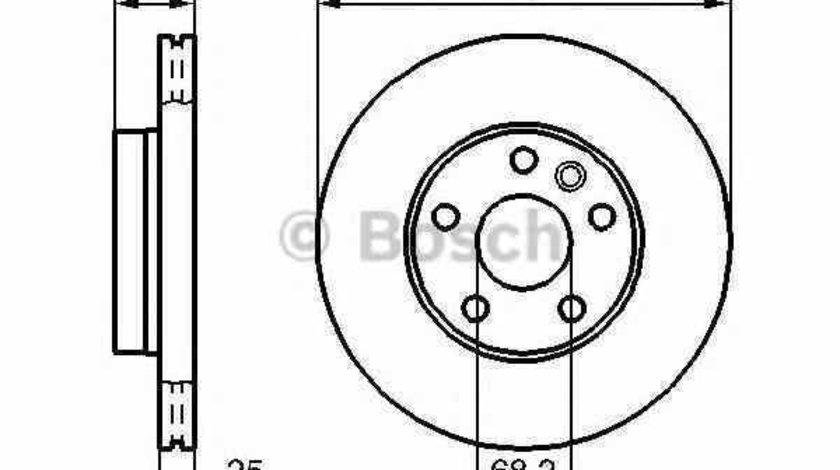 Disc frana VW SHARAN 7M8 7M9 7M6 BOSCH 0 986 478 893