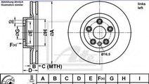 Disc frana VW TOUAREG (7P5) (2010 - 2016) ATE 24.0...