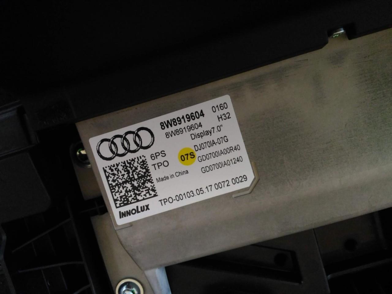 """Display navigatie 7.0"""" Audi A5 F5 8W 8W8919604"""