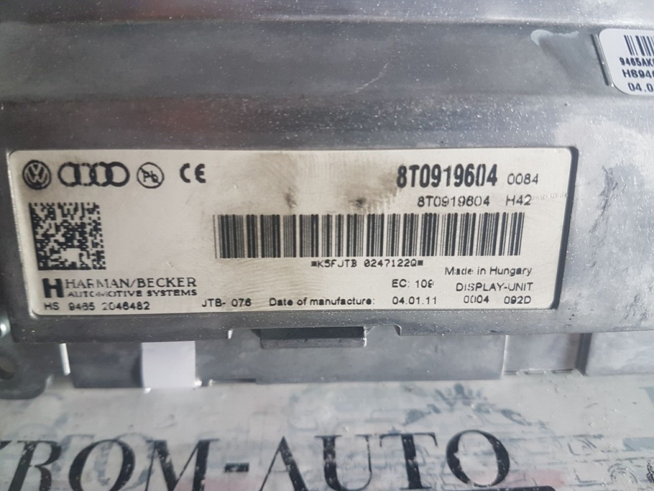 Display navigatie mmi 3g audi a4 b8 8k 8T0919604