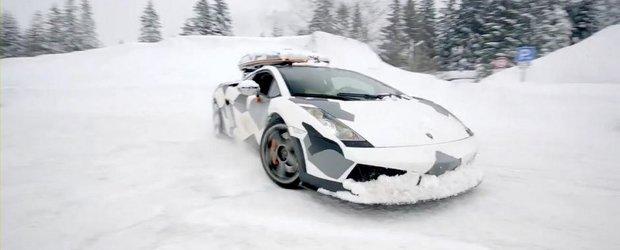 Distractie in zapada la bordul unui Lamborghini Gallardo LP560-4
