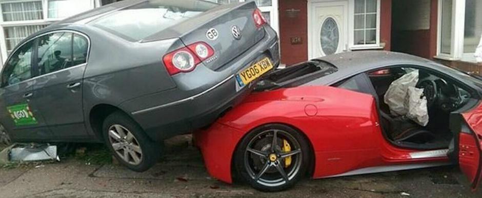 Distrugerea unui Ferrari inchiriat este cosmarul oricarui sofer