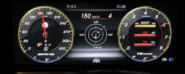 Ditamai sedanul ajunge la 100 de km/h mai rapid decat o masina sport. TEST DE ACCELERATIE cu Mercedes-AMG E63 S