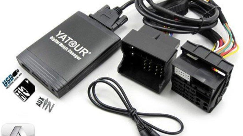 DMC Yatour - adaptor mp3 auto USB | SD | aux-in  [ AUDI - conector  12 pini QUADLOCK ]