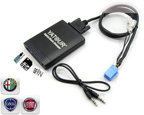 DMC Yatour - adaptor mp3 auto USB | SD | aux-in  [ Fiat / Alfa Romeo - conector 8 pini ]