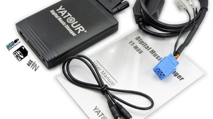 DMC Yatour - adaptor mp3 auto USB | SD | aux-in [ Renault - conector 8 pini ]