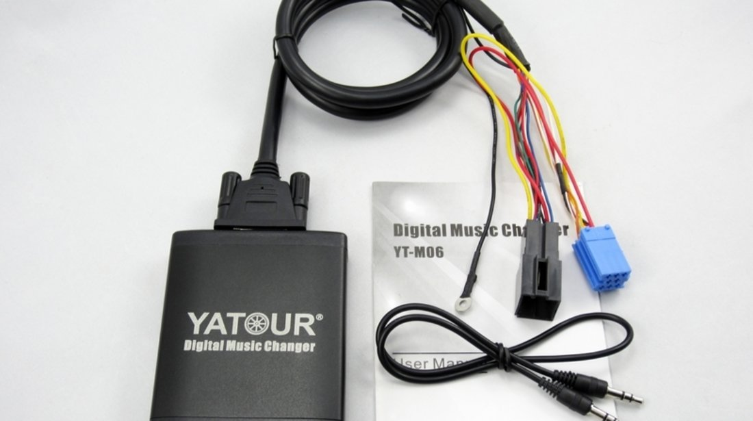 DMC Yatour - adaptor mp3 auto USB | SD | aux-in  [ Skoda - conector 8 pini ]