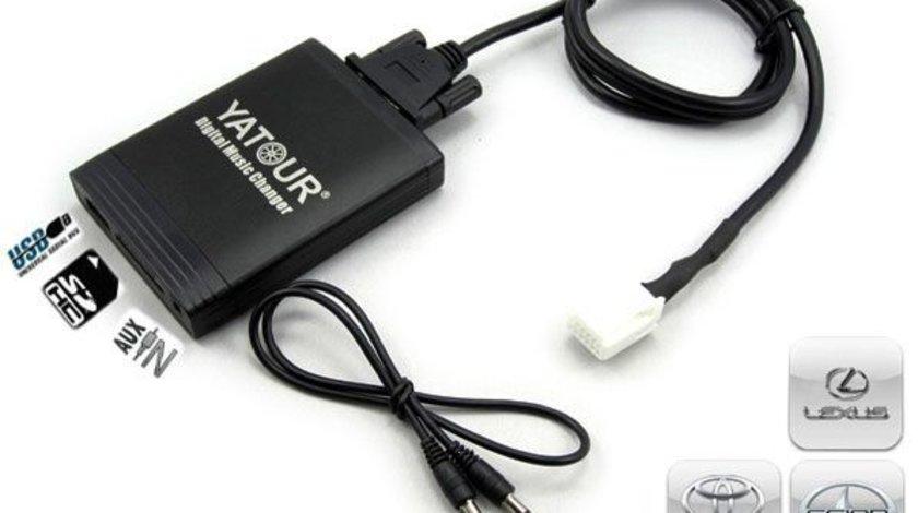 DMC Yatour - adaptor mp3 auto USB | SD | aux-in  [ Toyota - conector mic 6+6 pini ]