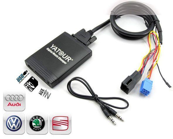 DMC Yatour - adaptor mp3 auto USB | SD | aux-in  [ VOLKSWAGEN VW - conector 8 pini ]