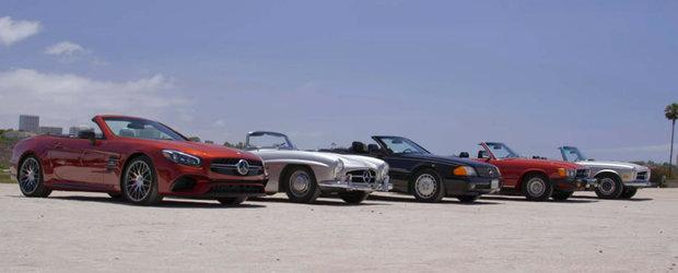 Doar aici poti sa vezi 5 generatii ale Mercedes-ului SL puse fata in fata. Si-a pierdut oare esenta cel mai nou model al nemtilor?