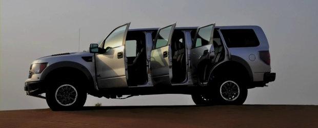 Doar in Emiratele Arabe Unite: Un Ford SVT Raptor cu... sase usi