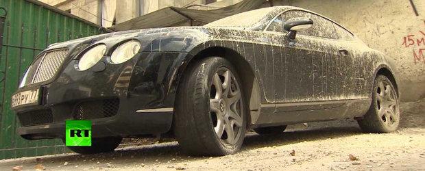 Doar in Rusia: Un Bentley GT este cimentat din greseala