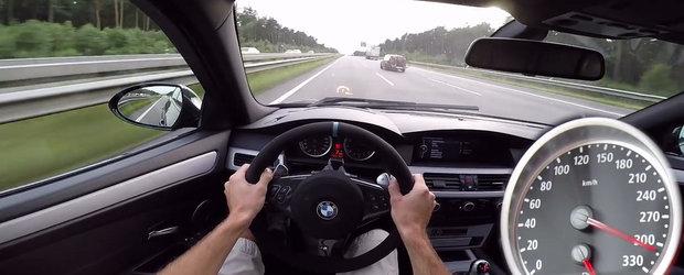 Doar traficul l-a oprit din a da peste cap vitezometrul. Test pe autostrada cu un BMW M5 BI-SUPERCHARGED