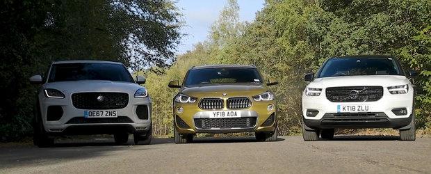 Doar unul poate iesi invingator din aceasta comparatie. Sa fie X2-ul, XC40-ul sau Jaguar-ul E-Pace?