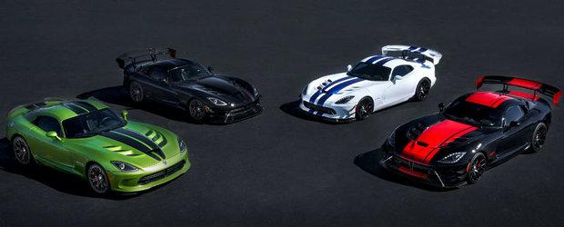 """Dodge ii spune """"adio"""" modelului Viper cu mai multe serii limitate"""