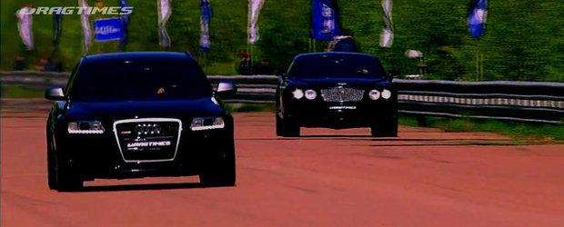 Drag Race: Audi RS6 ii arata vechiului Continental GT cine-i seful curselor legale