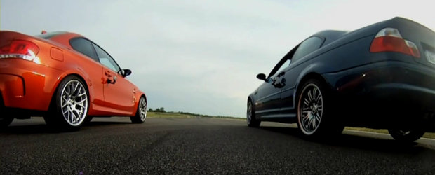 Drag Race: BMW Seria 1 M Coupe versus BMW M3 E46
