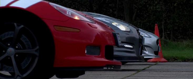 Drag Race: Chevrolet Corvette Grand Sport vs. Nissan GT-R vs. Jaguar XKR