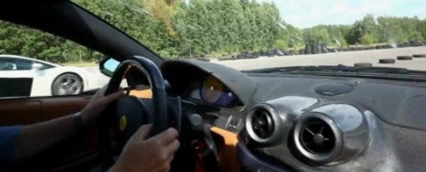 Drag Race: Lambo Gallardo LP560 vs. Ferrari 599 GTB