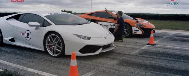 DRAG RACE: Noul Lambo Huracan nu are nici o sansa in fata McLaren-ului 650S