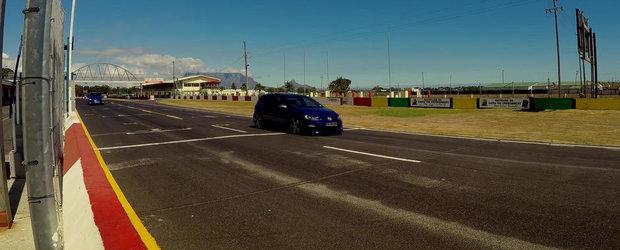 DRAG RACE: Noul Subaru STI nu are nici o sansa in fata Golf-ului R