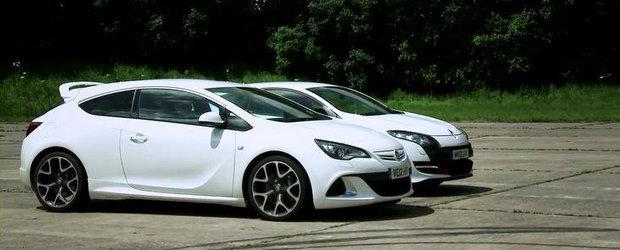 Drag Race: Renault Megane RS provoaca la duel noul Opel Astra OPC