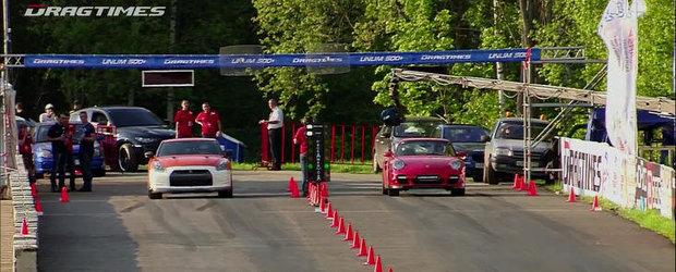 Drag Race: Un 911 Turbo de 950 CP se ia la intrecere cu un GT-R de 1.100 CP!
